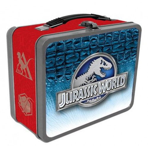 Jurassic World Raptors 8.5-Inch Tin Tote Lunch Box
