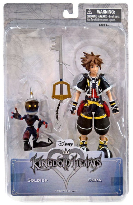 Disney Kingdom Hearts Series 1 Sora & Soldier Action Figure 2-Pack