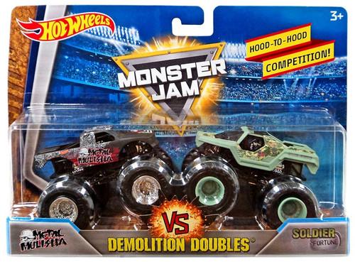 Monster Jam 2 Old Roblox Hot Wheels Monster Jam Demolition Doubles Zombie Zombie Hunter 164 Diecast Car 2 Pack Mattel Toys Toywiz