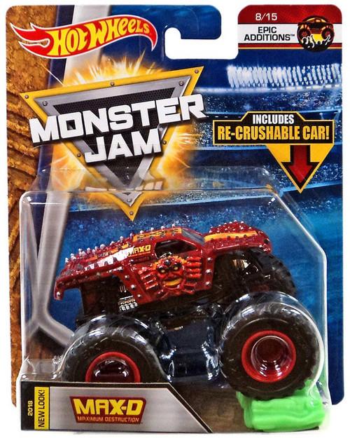 Hot Wheels Monster Jam Max-D Die-Cast Car #8/15 [Epic Addition, Re-Crushable Car]