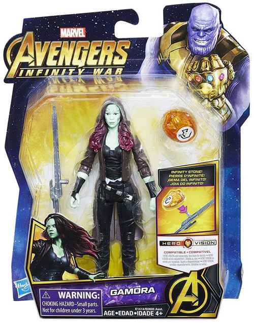 Marvel Avengers Infinity War Gamora Action Figure [with Stone]