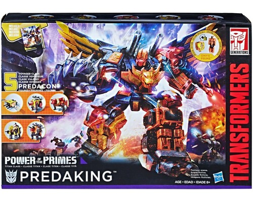 Transformers Generations Power of the Primes Predaking Titan Action Figure [Divebomb, Headstrong, Rampage, Razorclaw & Torox]