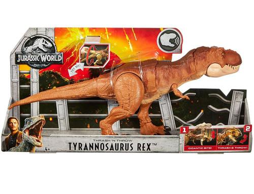 Jurassic World Fallen Kingdom Thrash 'N Throw Tyrannosaurus Rex Action Figure