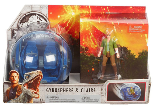 Jurassic World Fallen Kingdom Claire & Gyrosphere Action Figure Story Pack