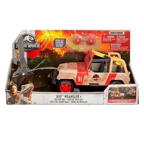 Jurassic World Matchbox Jeep Wrangler & Rescue Net Vehicle