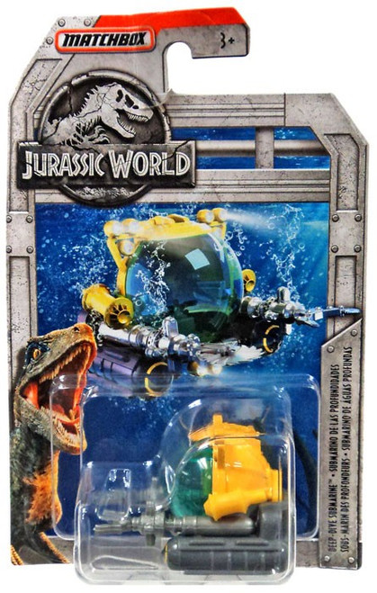 Jurassic World Matchbox Deep-Dive Submarine Diecast Vehicle