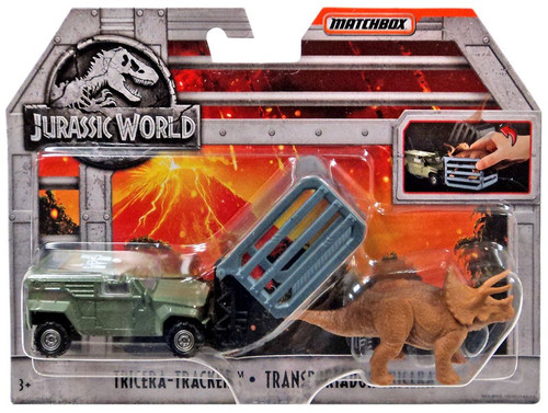 Jurassic World Matchbox Tricera Tracker Diecast Vehicle