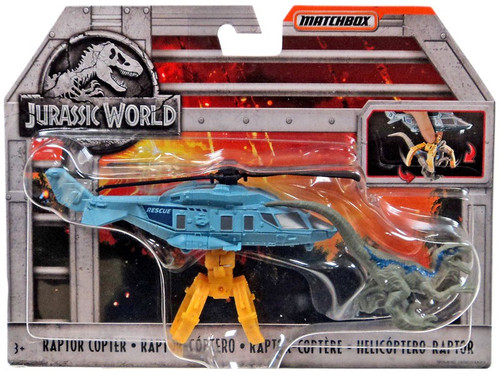 Jurassic World Matchbox Raptor Copter Diecast Vehicle
