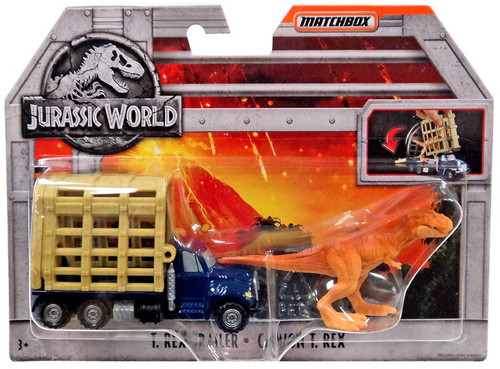 Jurassic World Matchbox T. Rex Trailer Diecast Vehicle