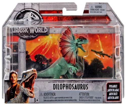 Jurassic World Fallen Kingdom Attack Pack Dilophosaurus Action Figure