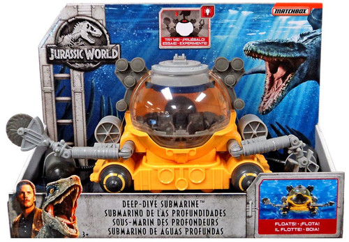 Jurassic World Matchbox Deep-Dive Submarine 3.75-Inch Vehicle