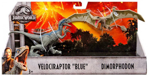 Jurassic World Fallen Kingdom Velociraptor Blue & Dimorphodon Action Figure