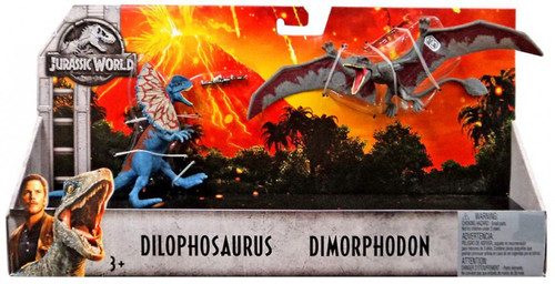 Jurassic World Fallen Kingdom Dilophosaurus & Dimorphodon Action Figure