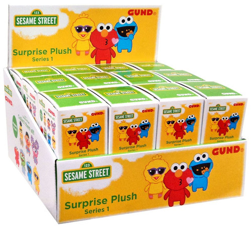 Sesame Street Series 1 Surprise Plush 3-Inch Mystery Box [24 packs]