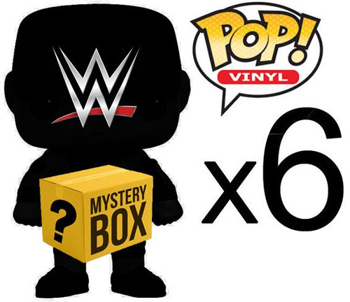 Funko WWE Wrestling WWE MYSTERY BOX LOT of 6 Funko POP! Vinyl Figures [Completely Random, No Duplicates Per Box!]