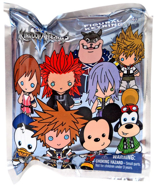 Disney 3D Figural Keyring Kingdom Hearts Series 1 Mystery Pack