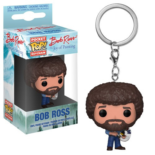 Funko Joy of Painting Pocket POP! TV Bob Ross Keychain