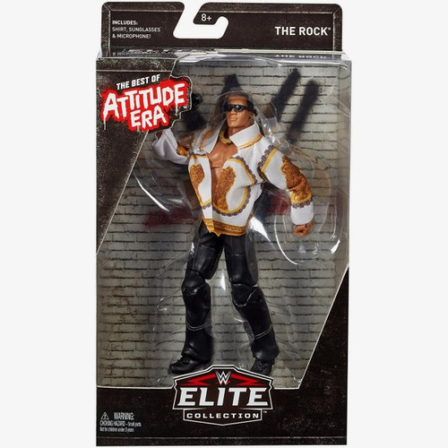 WWE Wrestling Elite Best of Attitude Era The Rock Action Figure