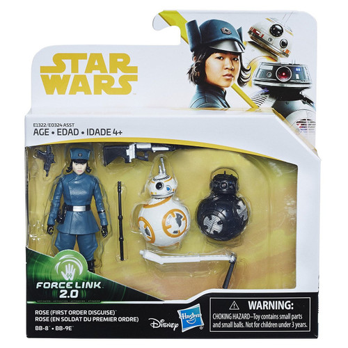 Star Wars The Last Jedi Force Link 2.0 Rose (First Order Disguise), BB-8 & BB-9E Action Figure 3-Pack