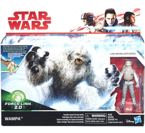 Star Wars Empire Strikes Back Force Link 2.0 Hoth Wampa & Luke (Hoth) 3.75-Inch Playset