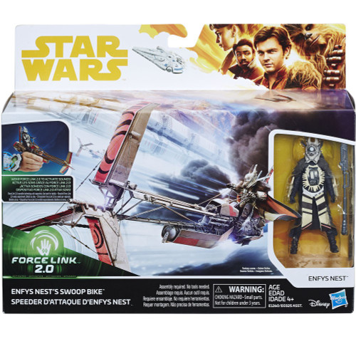 Solo A Star Wars Story Force Link 2.0 Swoop Bike & Enfys Nest 3.75-Inch Playset