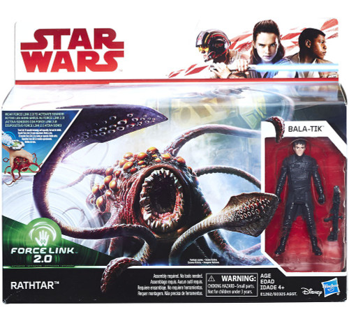 Star Wars The Force Awakens Force Link 2.0 Rathtar & Bala-tik 3.75-Inch Playset
