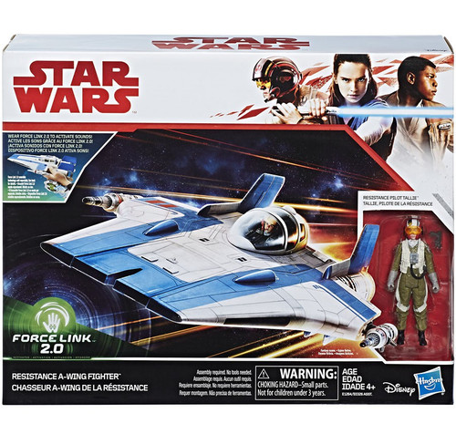Star Wars The Last Jedi Force Link 2.0 Resistance A-wing Fighter & Pilot Tallie Vehicle & Action Figure