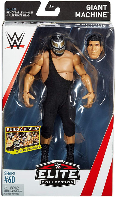 WWE Wrestling Elite Collection Series 60 Giant Machine Action Figure [Removeable Singlet & Alternate Head]