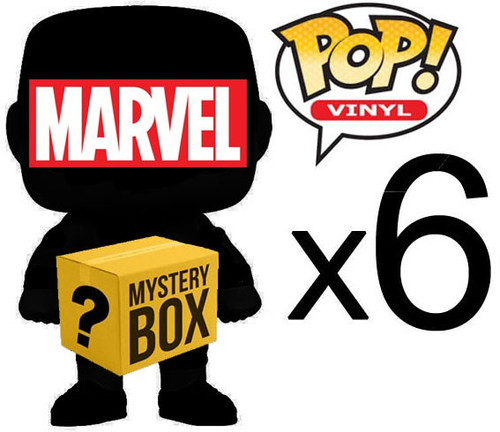 Funko MARVEL MYSTERY BOX LOT of 6 Funko POP! Vinyl Figures [Completely RANDOM, No Duplicates Per Box!]