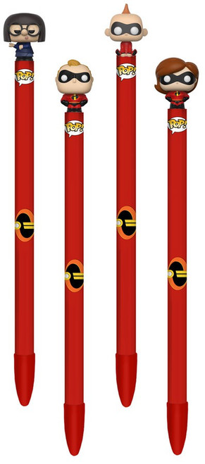 Funko Disney / Pixar Incredibles 2 Set of 4 Pen Toppers