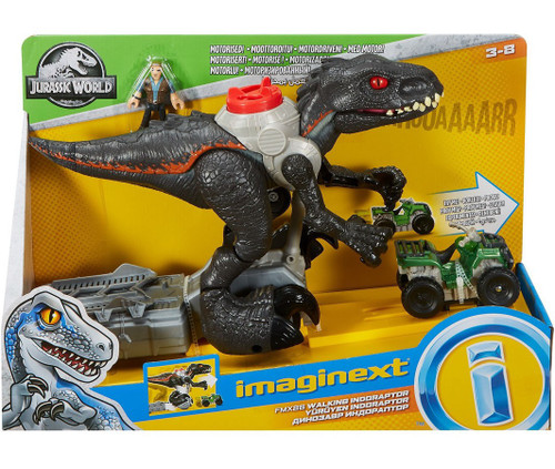 Fisher Price Jurassic World Imaginext Walking Indoraptor Figure Set [Motorized!]