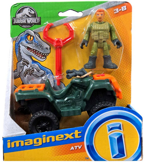 Fisher Price Jurassic World Imaginext ATV Figure Set
