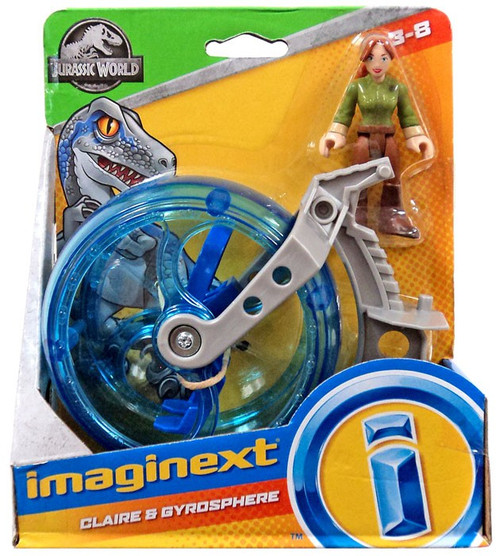 Fisher Price Jurassic World Imaginext Claire & Gyrosphere Figure Set