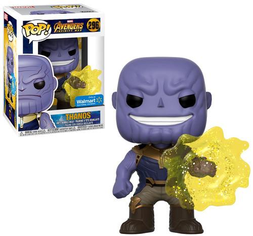 Funko Marvel Universe Avengers Infinity War POP! Marvel Thanos Exclusive Vinyl Figure #296 [Yellow Power Field]