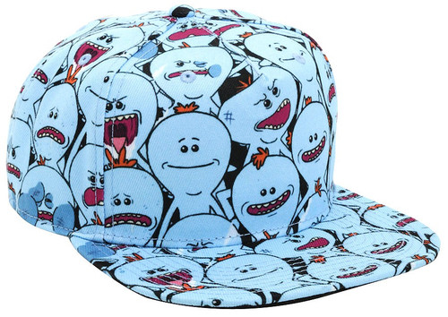 Rick & Morty Mr. Meeseeks Allover Snapback Cap