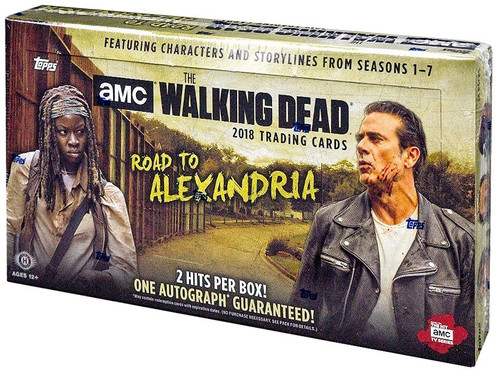 The Walking Dead Topps 2018 Road to Alexandria Trading Card HOBBY Box [24 Packs, 2 Hits Per Box!]