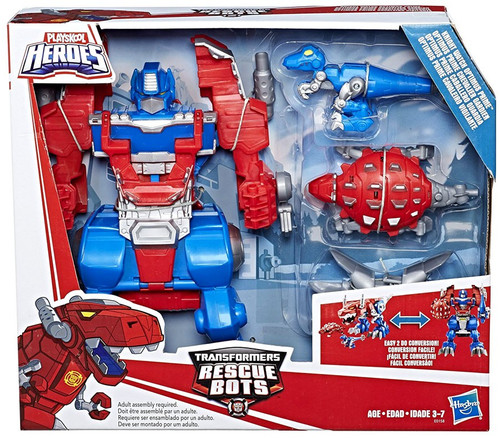 Transformers Playskool Heroes Rescue Bots Knight Watch Optimus Prime Action Figure