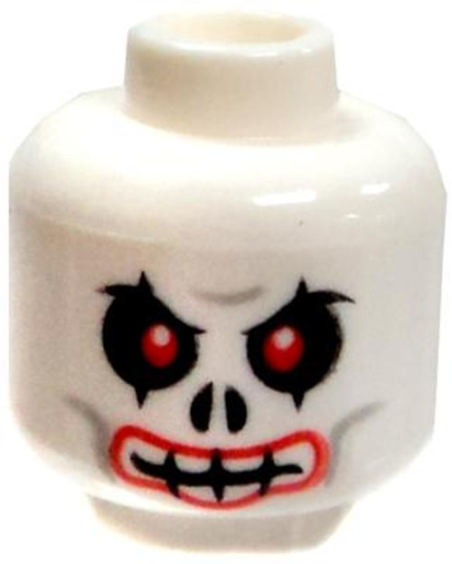 White with Red Eyes & Red Lips Minifigure Head [Loose]