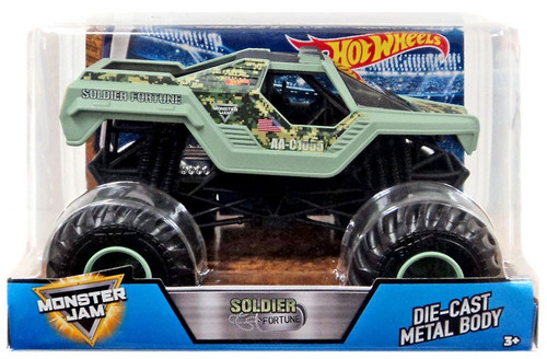 Hot Wheels Monster Jam Soldier Fortune Diecast Car