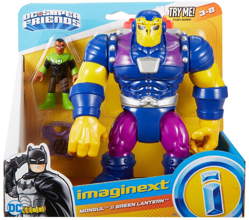 Fisher Price DC Super Friends Imaginext Mongul & Green Lantern 3-Inch Figure Set