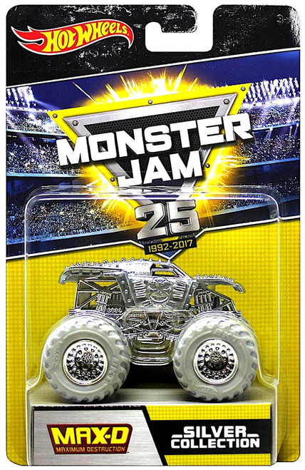 Hot Wheels Monster Jam 25 Silver Collection Max-D Die-Cast Car
