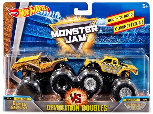 Hot Wheels Monster Jam Demolition Doubles Earth Shaker & Wrecking Crew Diecast Car 2-Pack