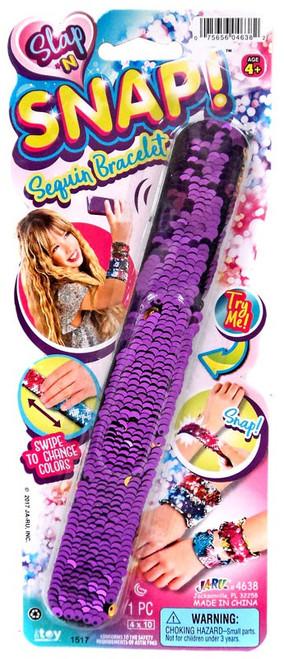 Slap 'N Snap! Purple & Gold Snap Bracelet