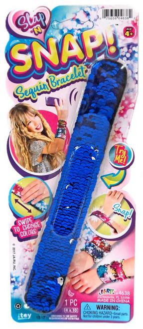 Slap 'N Snap! Blue & Silver Snap Bracelet