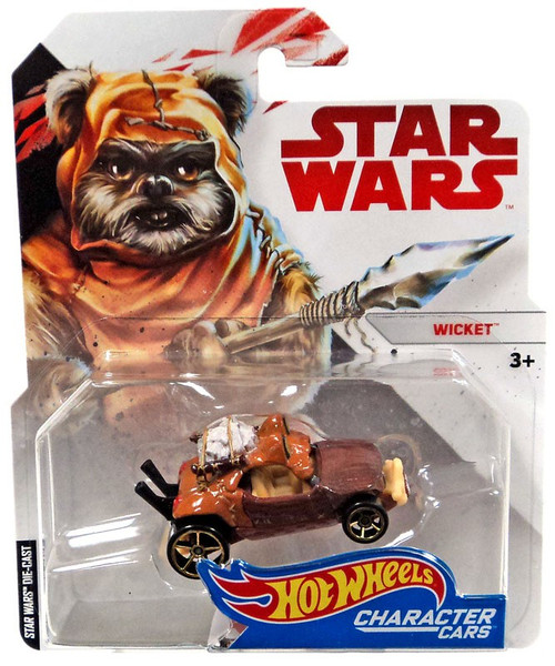 Hot Wheels Star Wars Character Cars Wicket Diecast Car