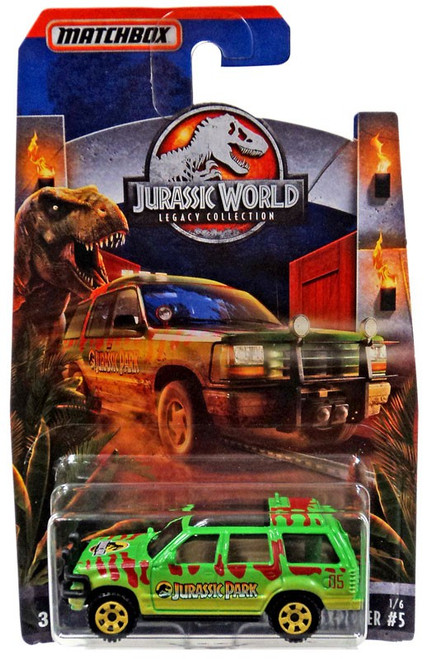 Jurassic World Matchbox Legacy Collection '93 Ford Explorer #5 Diecast Vehicle #1/6