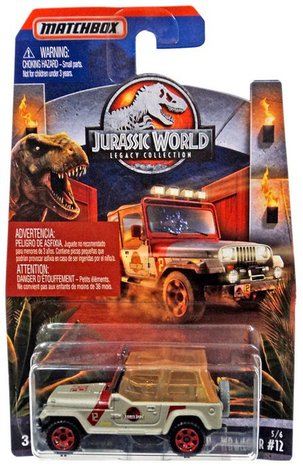 Jurassic World Matchbox Legacy Collection '93 Jeep Wrangler #12 Diecast Vehicle #5/6