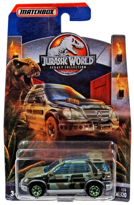 Jurassic World Matchbox Legacy Collection '97 Mercedes-Benz ML320 Diecast Vehicle
