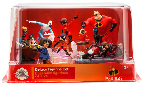 Disney / Pixar Incredibles 2 Exclusive 10-Piece Deluxe PVC Figure Playset