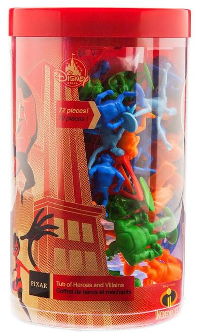 Disney / Pixar Incredibles 2 Tub of Heroes & Villains Exclusive Action Figure Playset